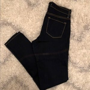 Women's dark denim jeans